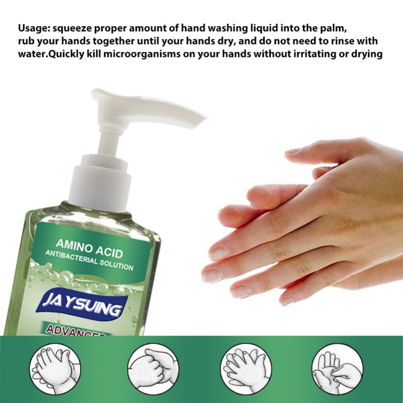 Antibacterial Press Head Amino Acid Hand Sanitizer Gel Disinfection Cleaner Disposable Rinse Free Gel Desinfectante De Manos
