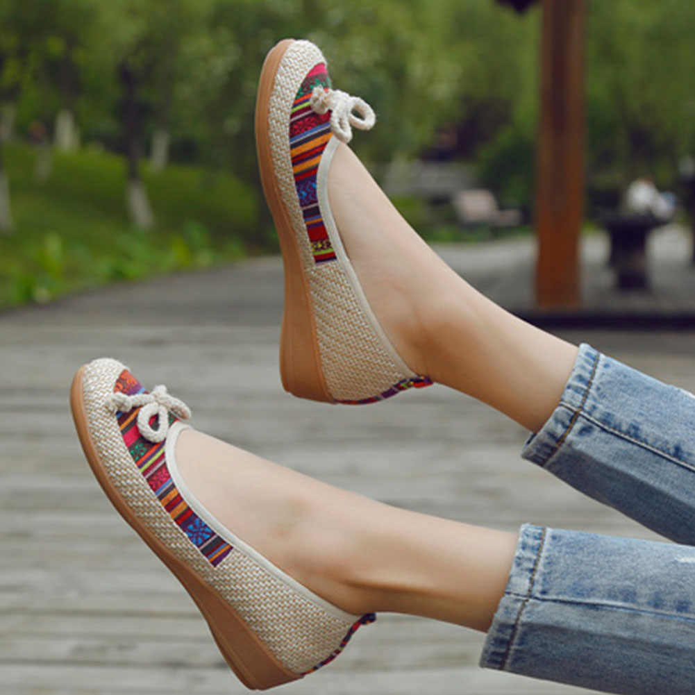 KarinLuna 2020 Best Quality Women Boots Round Toe Flat With Slip-On Mixed Colors butterfly-knot Summer Casual Woman Shoes