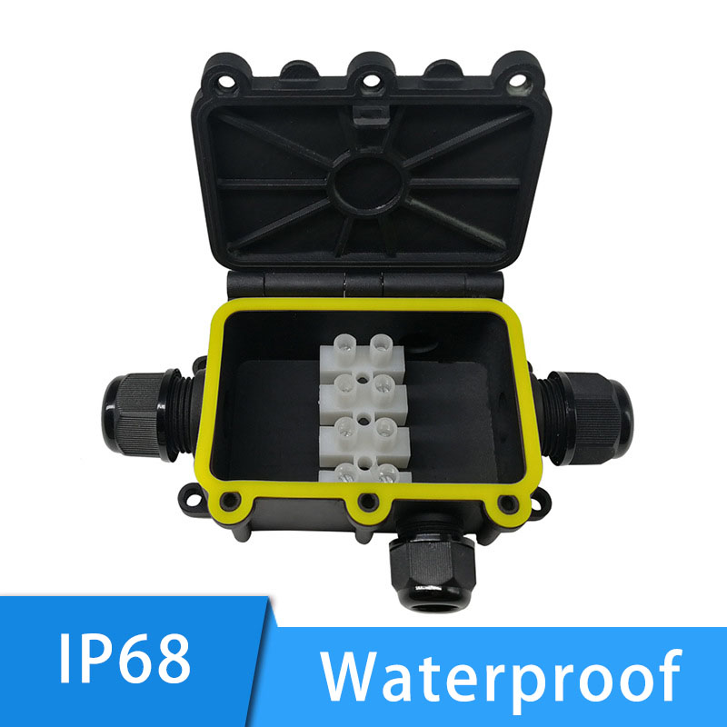 IP68 Junction Box Outdoor Waterproof 2 3 4 5 Way 5-12mm Cable Connector Electrical External Power Cord Conector For Led Light