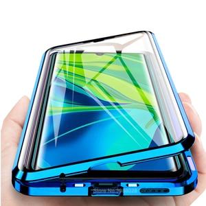 Двухсторонний стеклянный чехол для redmi mi note 10, магнитный адсорбционный флип-чехол для xiaomi mi 10, note10, note 10 pro, полный Чехол