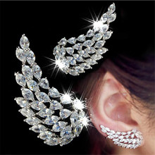 choucong Angel wings Stud Earring diamond 925 Sterling Silver Engagement Wedding Earrings for women Statement Party Jewelry cheap Zircon 925 Sterling Fine BY1161 Stud Earrings Classic geometric women mother wife girlfriend Engagement wedding party anniversary
