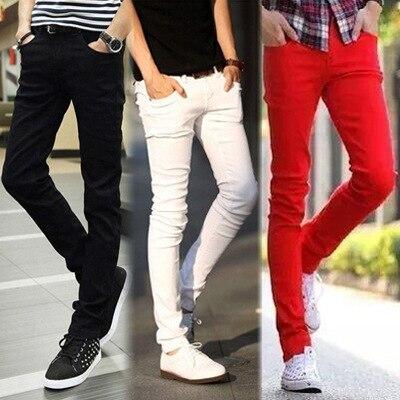 Summer Korean-style Teenager Jeans Men's Fashionable Skinny Pants Fashion New Style MEN'S Jeans Slim Fit Long Pants Fashion