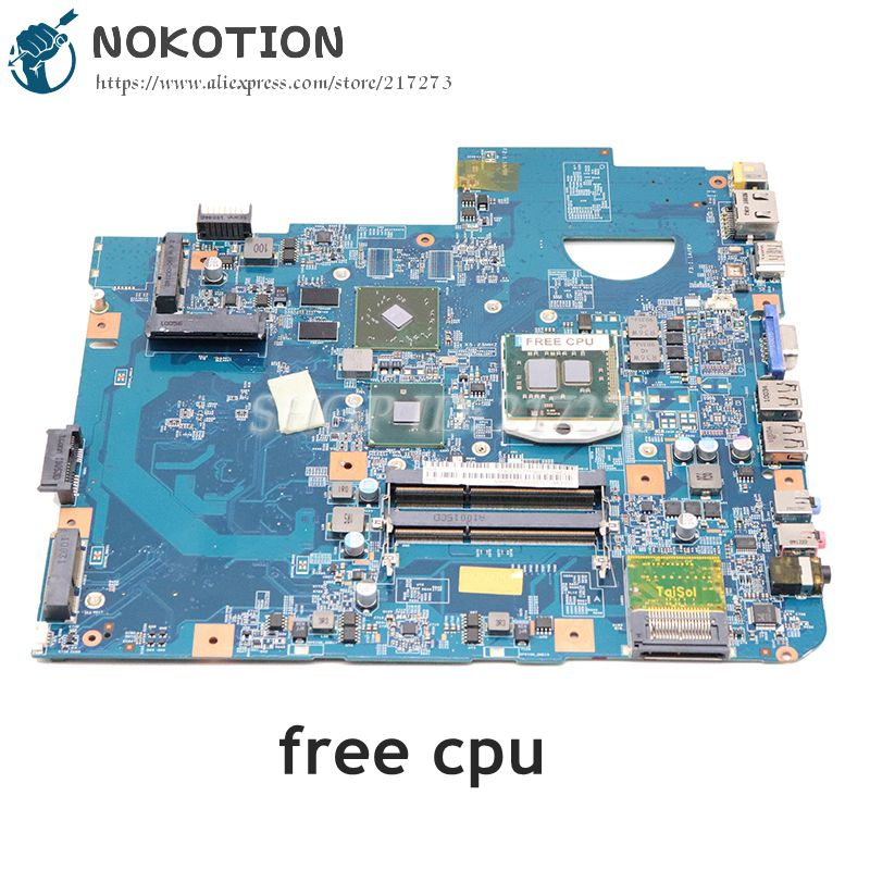 NOKOTION For Acer Aspire 5740G 5740 5740Z Laptop Motherboard MBPMG01001 MB.PMG01.001 48.4GD01.01M HM55 DDR3 512MB GPU Free Cpu