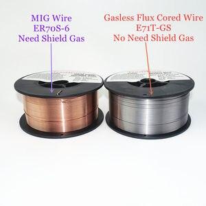 Image 2 - Fio cored gasless do fluxo do fio ER70S 6 da soldadura de mig E71T GS 1kg 0.6/0.8/0.9mm escudo do gás ou nenhum material de soldadura do aço carbono do gás