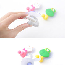 Creative cute suction cup toothbrush rack cartoon animal home children hanging wall toothbru