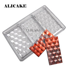 3D Polycarbonate Chocolate Mould Chocolate Bar Mold Diamond Tray for Hard Mold Chocolate Moulds Form Bakery Baking Pastry Tools