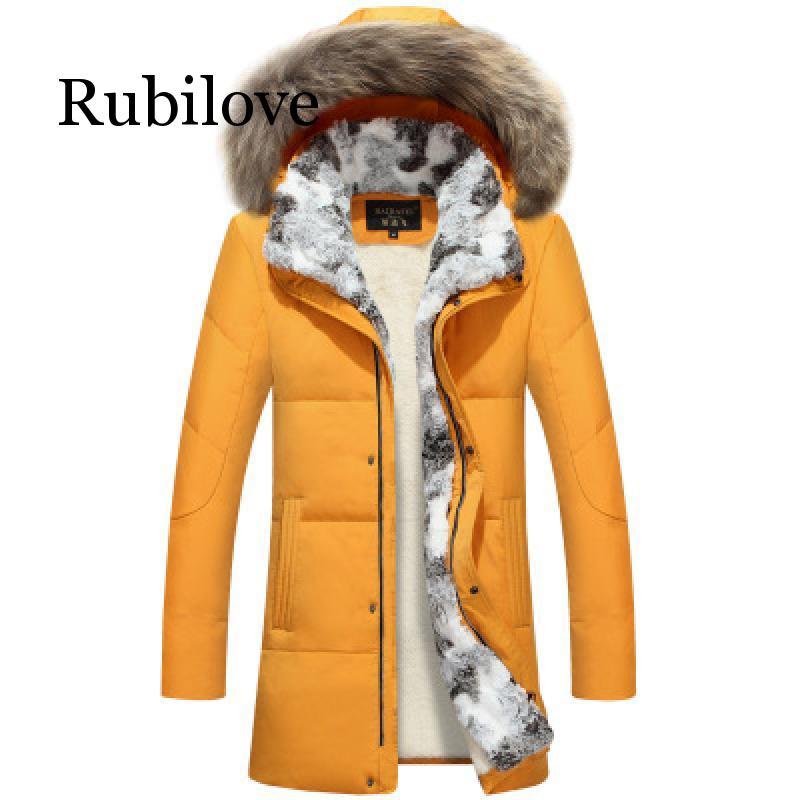 5XL blanc canard doudoune 2019 femmes hiver plume d'oie manteau longue fourrure de raton laveur Parka chaud lapin grande taille vêtements d'extérieur - 4