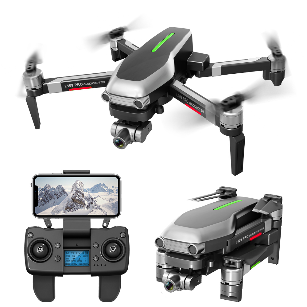 L109 Pro RC Quadcopter Drone GPS 4K HD Two-Axis Anti-Shake Stable Gimbal Camera 5G WIFI FPV Brushless Motor 1200m Long Distance