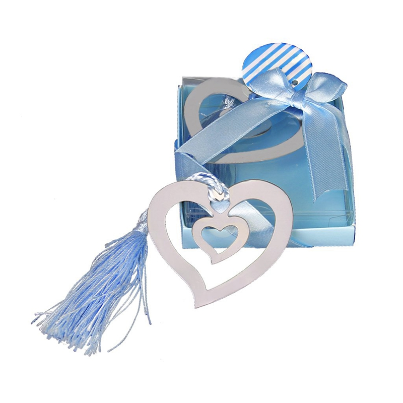 Wedding Favors Hollow Hearts Bookmark Party Favors Stainless Steel W/Tassels