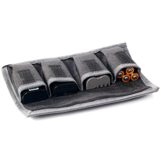 Besegad 4 slot DSLR pil çantası taşınabilir kamera pil taşıma saklama kutusu tutucu kılıfı Nikon Canon Sony kamera için araçlar