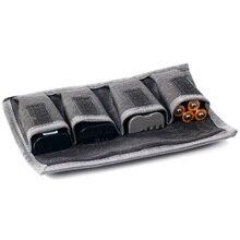 Besegad bolsa con 4 ranuras para batería DSLR, bolsa portátil para cámara, estuche de almacenamiento para Nikon, Canon, Sony, dispositivos para cámara