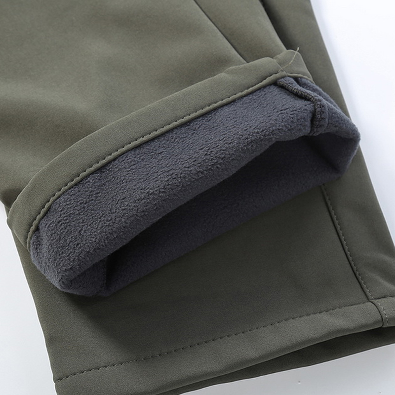 New Fleece Waterproof Pants Men Casual Winter Thick Warm Shark Skin Trousers Male Windbreaker Sweatpants Mens