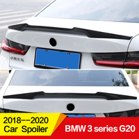 Use for BMW 3 Series spoiler G20 2017 2018 2019 2020 year glossy carbon fiber rear wing m4 style Sport 4 door Accessories