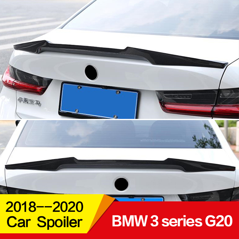 Use for BMW 3 Series spoiler G20 2017 2018 2019 2020 year glossy carbon fiber rear wing m4 style Sport 4-door Accessories image