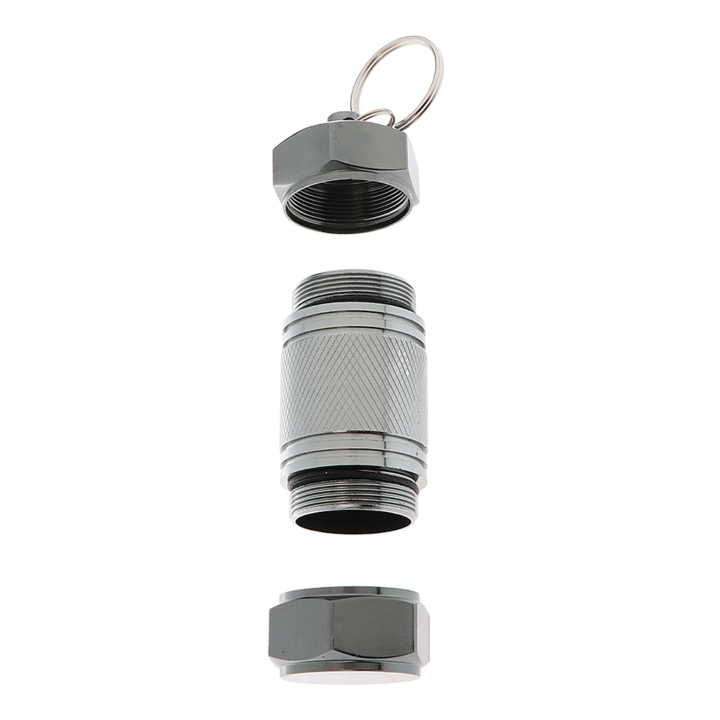 2pcs Mini Waterproof Alloy Medicine Pill Box Bottles Container Case Keyring, Sealed, Moisture-proof