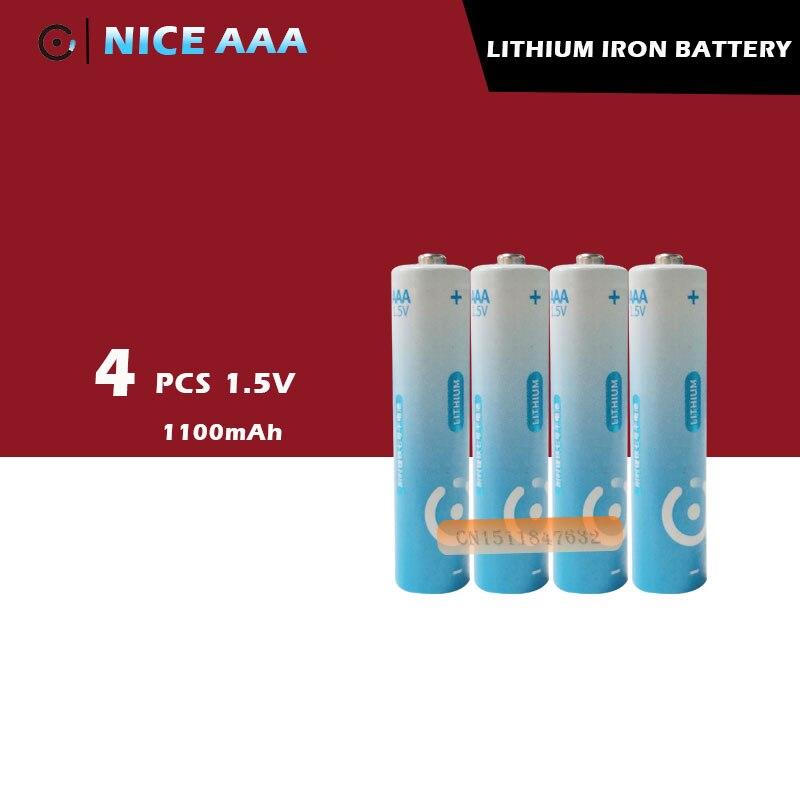 4 шт./лот, новинка, очень литиевые аккумуляторы AAA большой емкости 1,5 В, 5 лет гарантии, бесплатная доставка