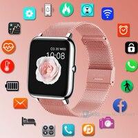 Reloj inteligente completamente táctil para hombre y mujer, pulsera electrónica para Android IOS, rastreador de Fitness, resistente al agua
