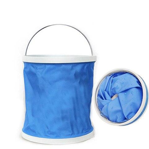 11l portatil dobravel balde de lavagem do carro acampamento ao ar livre viajando ferramentas lavagem