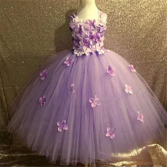 Quality Pink Princess Flower Dress 5