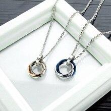 2019 Cubic Zircon Necklaces For Women Fashion Men Pendants Couple Necklace Lovers Jewelry Accessory