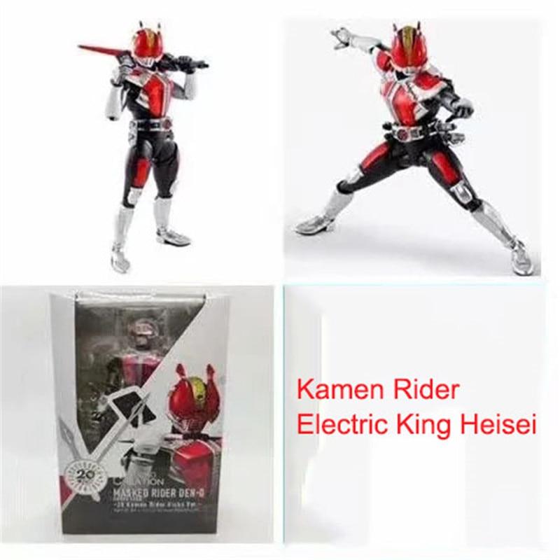 Bandai Shf Kamen Rider японская аниме фигурка модель настоящая кость резьба электрический король Heisei Совместное Подвижные игрушки унисекс коробка-у...