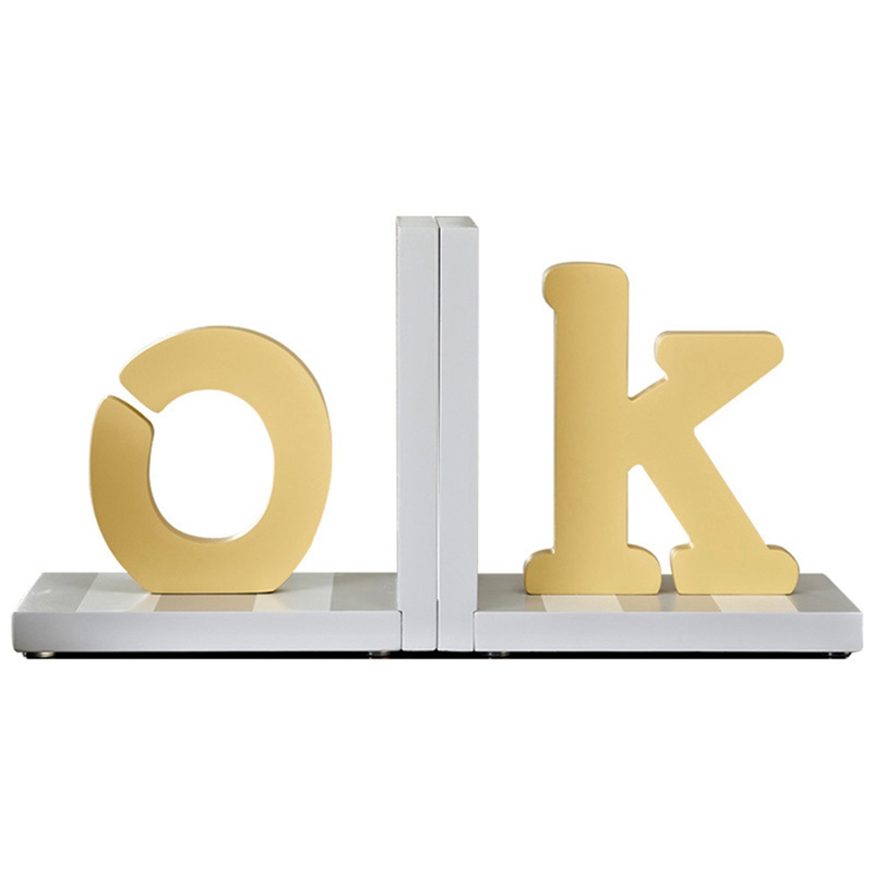 Wooden Letter Bookend Bookcase, Desk Bookcase, Book Stand, Environmental Protection Office Decoration