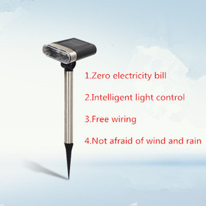 Image 3 - New adjustable solar projection lamp solar lawn light outdoor waterproof garden landscape light into the ground emergency light