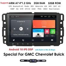 Android 10 samochodowy odtwarzacz multimedialny Radio dla GMC Chevrolet Chevy Yukon Tahoe Sierra Acadia podmiejski automotivo nawigacja GPS 2 + 32