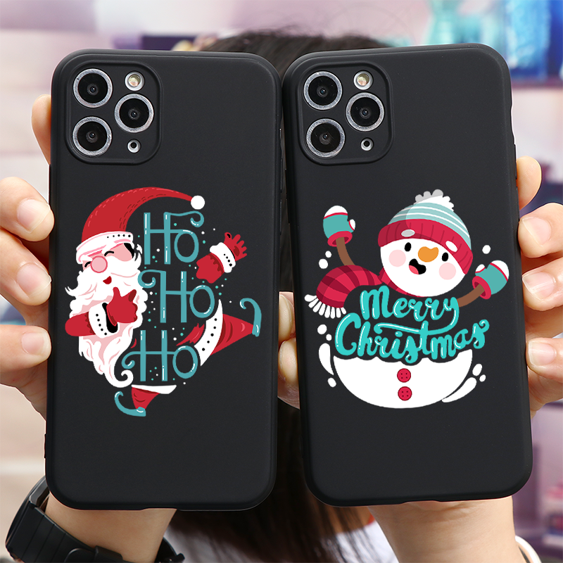 Merry Christmas Letter Phone Case For iPhone 11 11Pro 12 X XR XS Max 8 7 6 6s Plus 5 5s SE 2020 Cases Santa Claus Soft TPU Cover