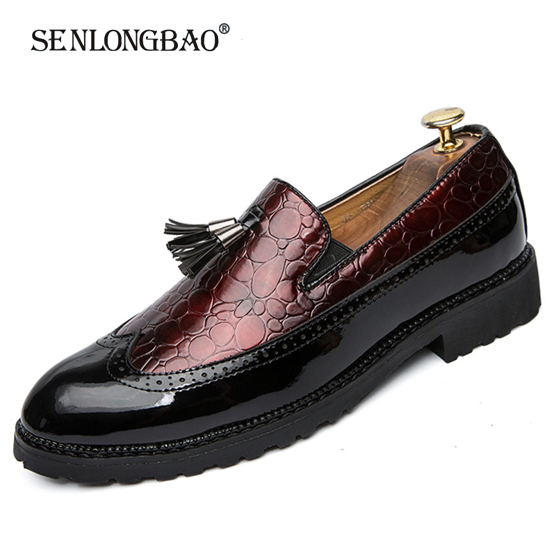 Mens Casual Dress Formal oxfords Leather Shoes Business Slip on Driving Loafers