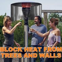 Aquecedores de pátio ao ar livre refletor de foco de calor do aquecedor de terraço propano e saco de armazenamento para armazenamento conveniente aquecimento família