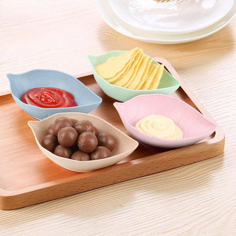 Spoons-Sets Plate-Seasoning Sauce-Dish Wheat-Straw Snack Kitchen-Supplies Small-Plate