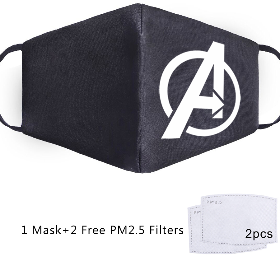 The Avengers Thanos Superhero Iron Man Mask Anti Dust Masquerade Washable Masks PM2.5 Filter Face Mask Unisex Mascarillas