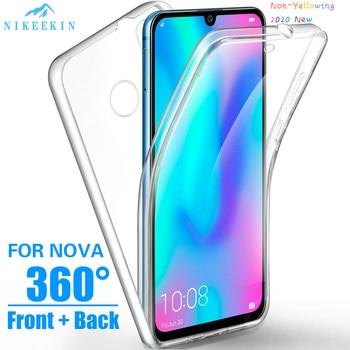 Перейти на Алиэкспресс и купить 360 Полный корпус чехол для Huawei Y5P Y6P Y6S P40 Lite 5G Y9S P40 Pro прозрачный силиконовый чехол Honor 9S 9C 9X 20 Pro 8A 10 Lite Nova 5T