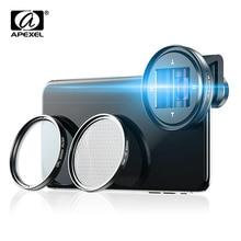 APEXEL 1.33x Anamorphic Mobile Lens 4K UHD Widescreen Movie Lens Vlog Shooting Deformation Lenses for iPhone Samsung smartphones