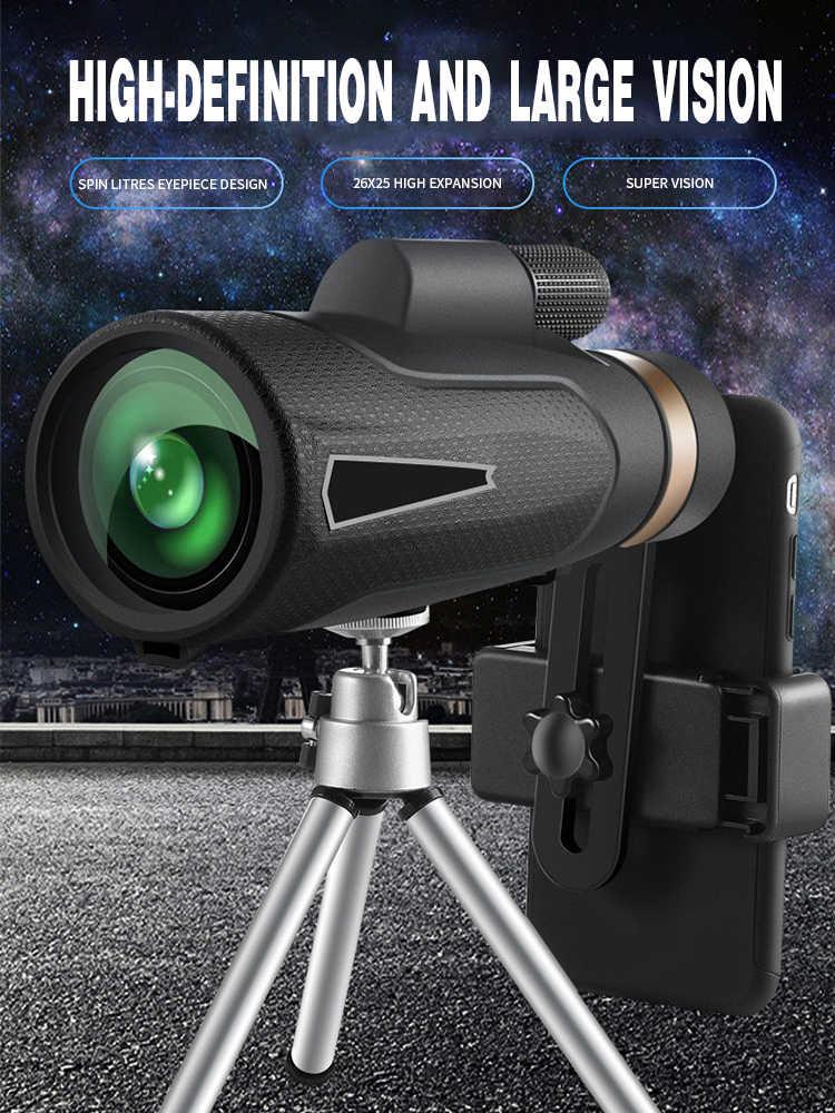 Мощный монокулярный телескоп ночного видения водонепроницаемый большой радиус действия 3000 м портативный военный телескоп для охоты на смартфонов