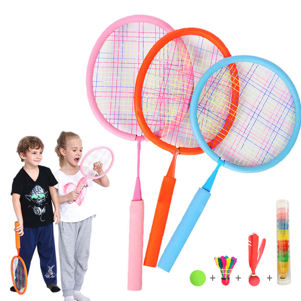 Toy Badminton Tennis Rackets And Ball Set, Indoor Outdoor Beach Sports Play Game Toys For Boys, Girls, Children Random Color