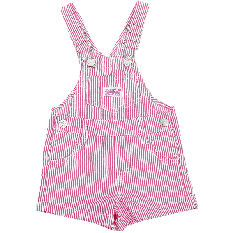 TC Summer Newborn Baby Trousers Infant Cotton Cute Little Kids Suspenders Stripe Shorts  Boys Girls Casual Baby Conjoined Shorts