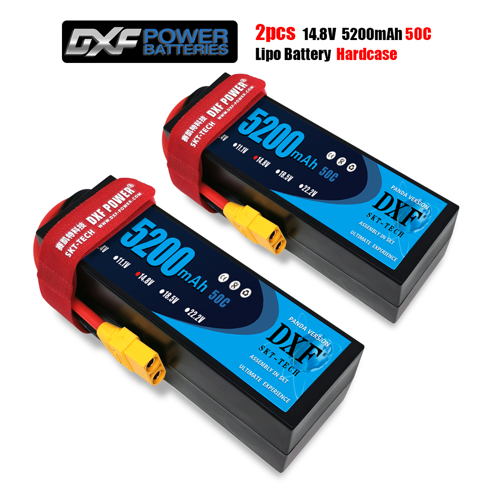 2PCS DXF Lipo battery  2S  4S 7.4V 14.8V 50C 100C HardCase Lithium Polymer for RC Car Boat Drone Robot FPV truck|Parts & Accessories| |  - title=