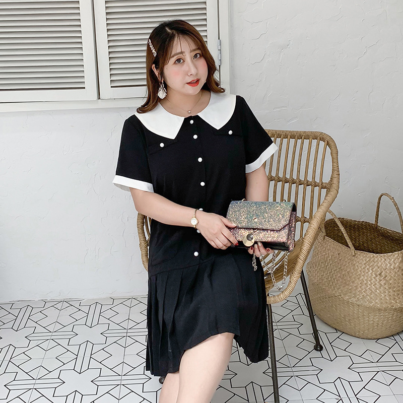 [Xuan Chen] Summer New Style Fat Mm Plus-sized WOMEN'S Dress Young-Style Sweet Dress 1789