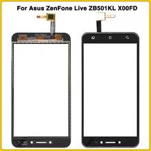 """Mới Màn Hình Cảm Ứng Cho Asus Zenfone Live ZB501KL X00FD A007 5.0 """"Màn Hình Cảm Ứng Bảng Điều Khiển Bộ Số Hóa Cảm Biến Ngoài Kính Cường Lực"""