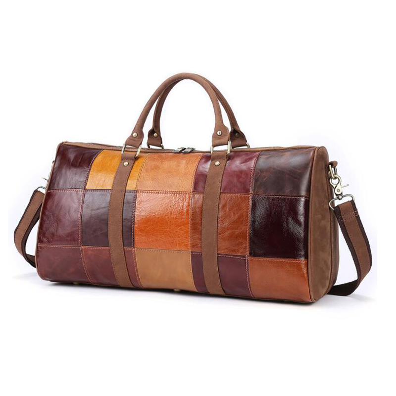 MAHEU Colorful Leather Travel Bag Men Women Big Capcity Travel Bags Hand Luggage For Female Lady Weekend Tote Bage Family Travel