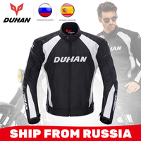 DUHAN Motorcycle Jacket Men Windproof Riding Off Road Racing Sports Jackets Moto Equipment Clothing With Five Protector Guards