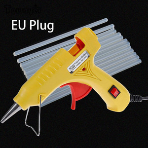 20W Hot Melt Glue Gun Industrial Mini Guns Thermo Electric Heat Temperature Tool with 7mm x 200mm Glue Stick EU Plug US Plug(China)
