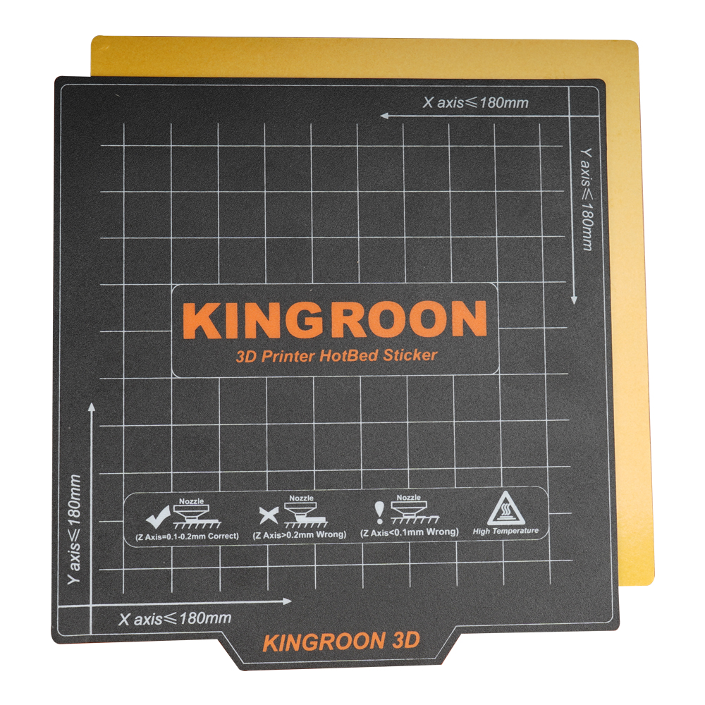 Kee Pang 3D Printer Heat Paper 180*180mm Flexible Magnetic 2 Layer Print HotBed Sticker 3D Printer Platform Heated Bed tape