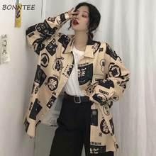 Blusas femininas oversized 2xl chique chinês harajuku engraçado impresso verão à prova de sol senhoras blusa de manga longa design das mulheres novo topo