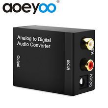 AOEYOO Analog to Digital Audio TV Converter Coaxial to Optic