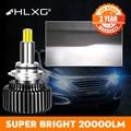 360 H4 H11 светодиодный 9012 HIR2 H7 H1 H8 HB3 9005 HB4 9006 светодиодный фар автомобиля 20000LM 6000 К противотуманная фара 12V luces светодиодный para Авто nebbia hlxg