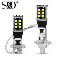 2 uds Super brillante H1 H3 bombilla LED 15SMD 2835 luces antiniebla DE COCHE día conduciendo luz automóviles lámpara 6000K White12V
