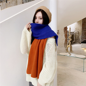 Korean Autumn And Winter New Arrival Patchwork Scarf Men And Women Couple Long Thick Soft Comfortable Warm Shawl